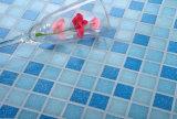 O mosaico do material de construção telha o mosaico de vidro azul para a piscina