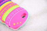 Caisse molle de silicones d'hamburger de dessin animé pour la caisse de téléphone d'iPhone (XSF-003)