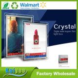 Singolo e doppio cristallo laterale LED che appende casella chiara