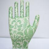 Bunter Abdruck-Nitril-Sicherheits-Arbeits-Handschuh Gmnr009