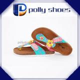Nuevo zapato de la plataforma del talón de cuña del fracaso de tirón de la hebilla del verano de las mujeres