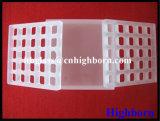 Partie carrée transparente en verre de quartz de vente chaude