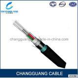 Prix multi blindé de câble de fibre échoué par Arieal de conduit de faisceau du câble fibre optique GYTA53 par mètre