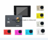Barato 2.0 câmera impermeável da câmera da ação do esporte do capacete da lente 4k do LCD 170