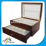 Таможня высокого качества наблюдает коробку пакета деревянную для розничного магазина