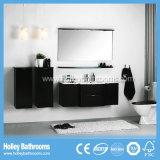 Установленная ванная комната шкафа High-Gloss краски многофункциональная двойная мастерская (PF128c)