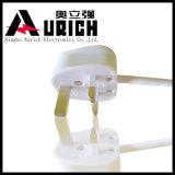 Cordon de prolonge à trois dents BRITANNIQUE de pouvoir européen de câble d'alimentation AC de cordon d'alimentation à angles splendide de constructeur