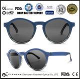 Fabricante super de venda superior da fábrica de 2015 óculos de sol do vintage redondo do tipo em China