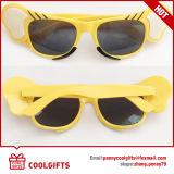 حالة لهو زجاجة شكل نظّارات شمس مع علامة تجاريّة طبعة لأنّ جعة مهرجان