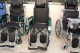 Topmediの医療機器の横たわる高い背部粉のコーティングの鋼鉄車椅子