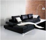 2016 più nuovo disegno L sofà del cuoio di figura per uso della Camera (SF018)
