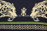 Long chandail tricoté de collet de chemise par tigre rond pour les hommes