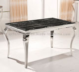 Chairs를 가진 8 Seater Stainless Steel Marble Dining Table