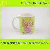 Tazza di ceramica stampata decalcomania personalizzata della tazza di caffè del gres 11oz