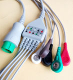 Mindray Verde 12pin 5 Snap & Clip Cable ECG