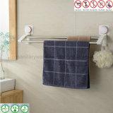 Suporte cromado de toalha sanitária com a barra de toalha dobro