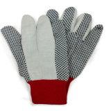 Поставленная точки перчатка работы сада перчаток холстины перчаток хлопка
