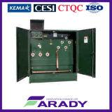 Tipo ao ar livre fabricante montado do transformador da distribuição de 13.8kv almofada trifásica