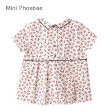 Cotone 100% Short Sleeve Children Clothing per Girls