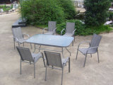 Comer al aire libre Jardín Muebles de terraza con 6 sillas (FS-1101 + FS-5112)