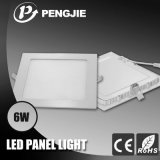 Luz del panel ultra delgado 6W LED (cuadrado)