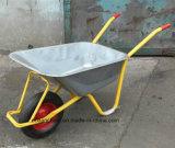 Wheelbarrow resistente com bandeja galvanizada (WB6404H)