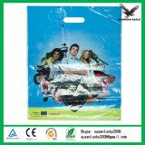 Supermarkt-Kleidung-kaufengestempelschnittene Griff-Plastiktasche