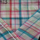 ワイシャツまたは服Rls50-22seのための100%年の綿のSeersuckerによって編まれるヤーンによって染められるファブリック