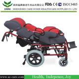 [فسكل ثربي] تجهيز ألومنيوم كرسيّ ذو عجلات يدويّة مع يرقد مسند ظهر