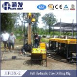 Exploração dissimulada, mineral! HFDX-2 equipamento de retirada do núcleo do Portable 350m BQ/NQ/HQ