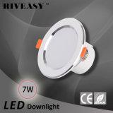 7W 3.5 인치 LED Downlight는 Ce&RoHS 천장 램프로 아래로 점화한다