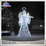 CE/RoHS 금속 백색 각 훈장 거리 크리스마스 훈장 빛