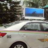 Qichuang P3の屋外のフルカラーのタクシーの上LEDのビデオスクリーン