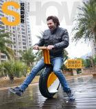 """Um """"trotinette"""" elétrico da roda, Unicycle de Elecric, uma motocicleta da roda"""