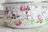 Sunboatの小さい花のエナメルのヌードルの鍋のエナメルスープ鍋のミルクの鍋