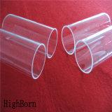Tube en verre de silice transparent transparent à haute pureté