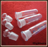 유리제 마개를 가진 명확한 붕규산 유리 시험관