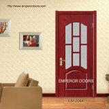 Porte d'entrée, porte en verre de panneau, porte de PVC Liminated, porte moulée