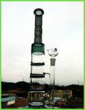 Gefäß drei Schichten Jade-Dreiergruppen-Bienenwabe-Platte Perco rauchende Wasser-Glasrohr-