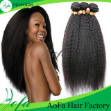 Выдвижения волос волос Remy 20 дюймов Kinky навальные людские