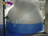 Раздувной шатер купола проекции для случая