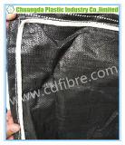 Bolso enorme grande negro del envase de FIBC con la hebra hermética del algodón