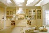 Moderner Entwurf Belüftung-Küche-Schrank-Vinylverpackungs-Küche-Möbel
