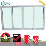 Porta de vidro de deslizamento plástica Multipoint da segurança UPVC/PVC do fechamento