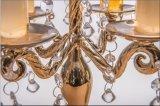 De duidelijke Houder van de Kaars van het Glas met Drie Berijpende Affiches