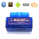 Lecteur de code automatique d'outil de diagnostique d'Elm327 Bluetooth OBD2 V2.1 bleu (plaque simple)