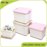 Wave를 가진 제조 96L Plastic PP Storage Box Container