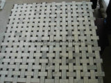 Mosaico de mármol blanco del azulejo