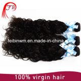 Trama natural brasileira do cabelo humano da extensão do cabelo preto da onda