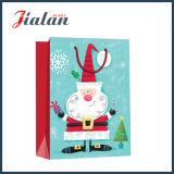 Bolsa de papel laminada brillante del regalo de las compras de la Navidad del padre del papel de arte